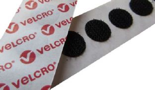 VELCRO® Brand Self-adhesive 13mm Hook Coins (Pack of 200)